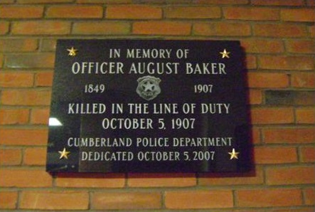August Baker Memorial Plaque