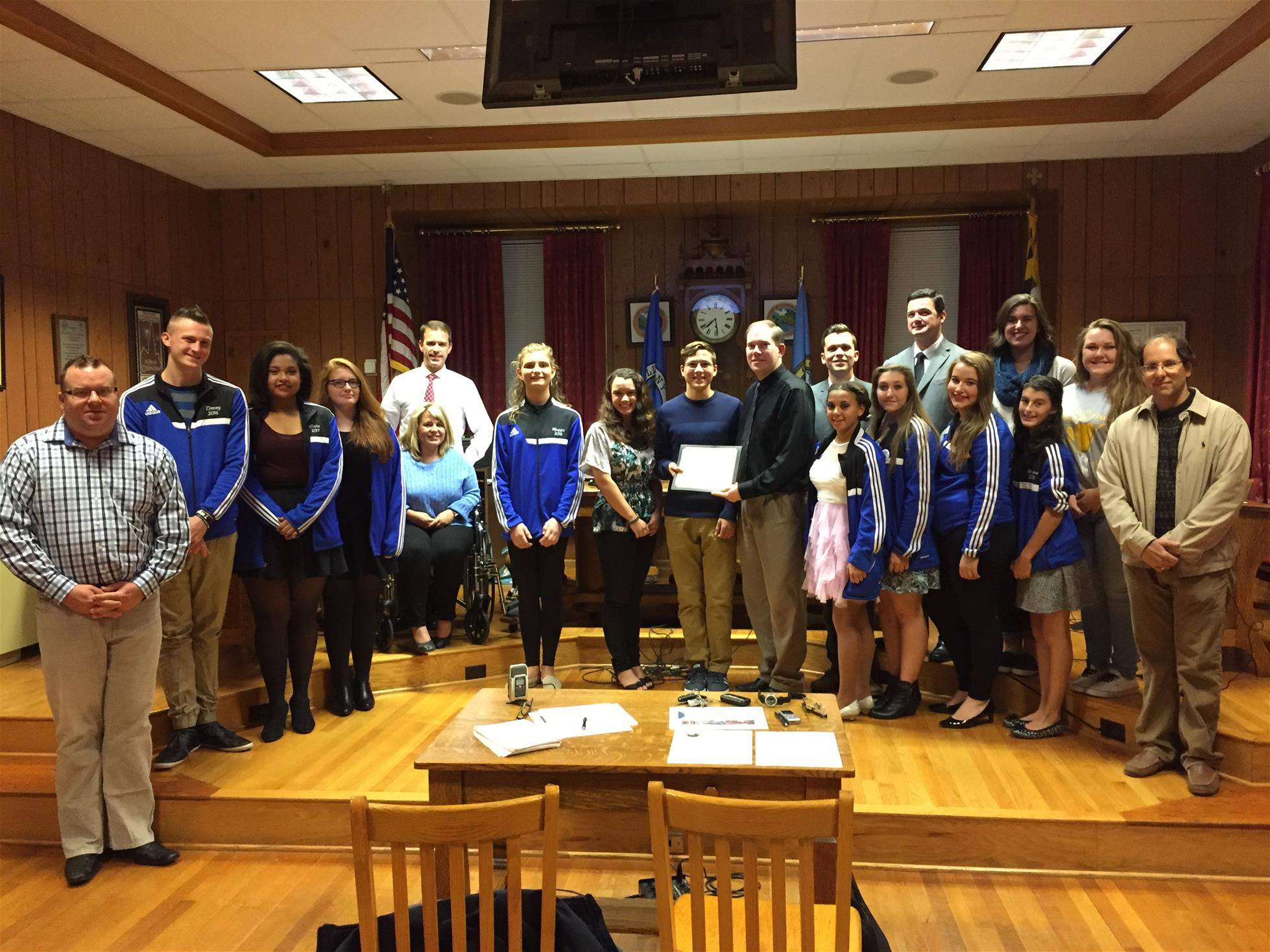 Cert of Rec - 2015 Allegany Marching Band
