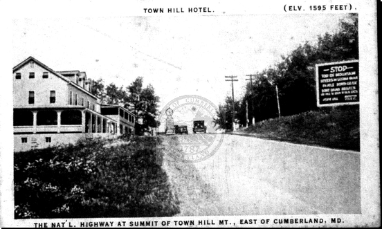 Town Hill Hotel on the National Road